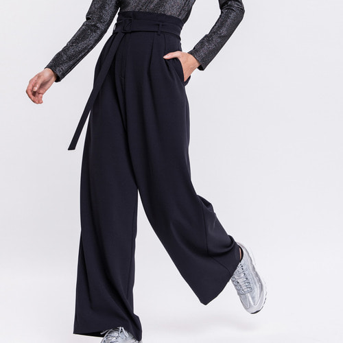 PLEATED HIGH WAIST WIDE LEG PANTS(와이드팬츠)